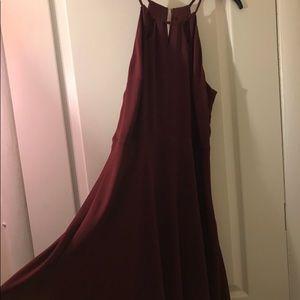 Women's red spaghetti strap dress
